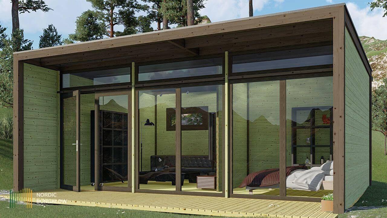 Shiny Studio 44 L pour Chalet De Jardin En Bois Habitable