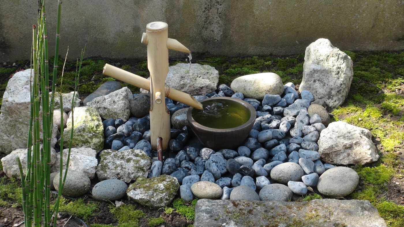 Shishi Odoshi - Fontaine Japonaise En Bambou | Fontaine ... à Fontaine Jardin Japonais