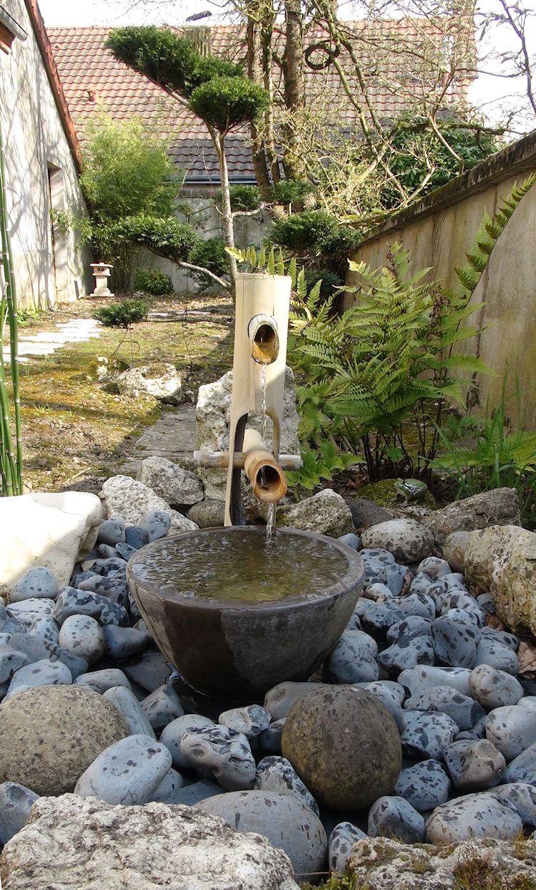Shishi Odoshi - Fontaine Japonaise En Bambou | Fontaine ... pour Fontaine Jardin Japonais