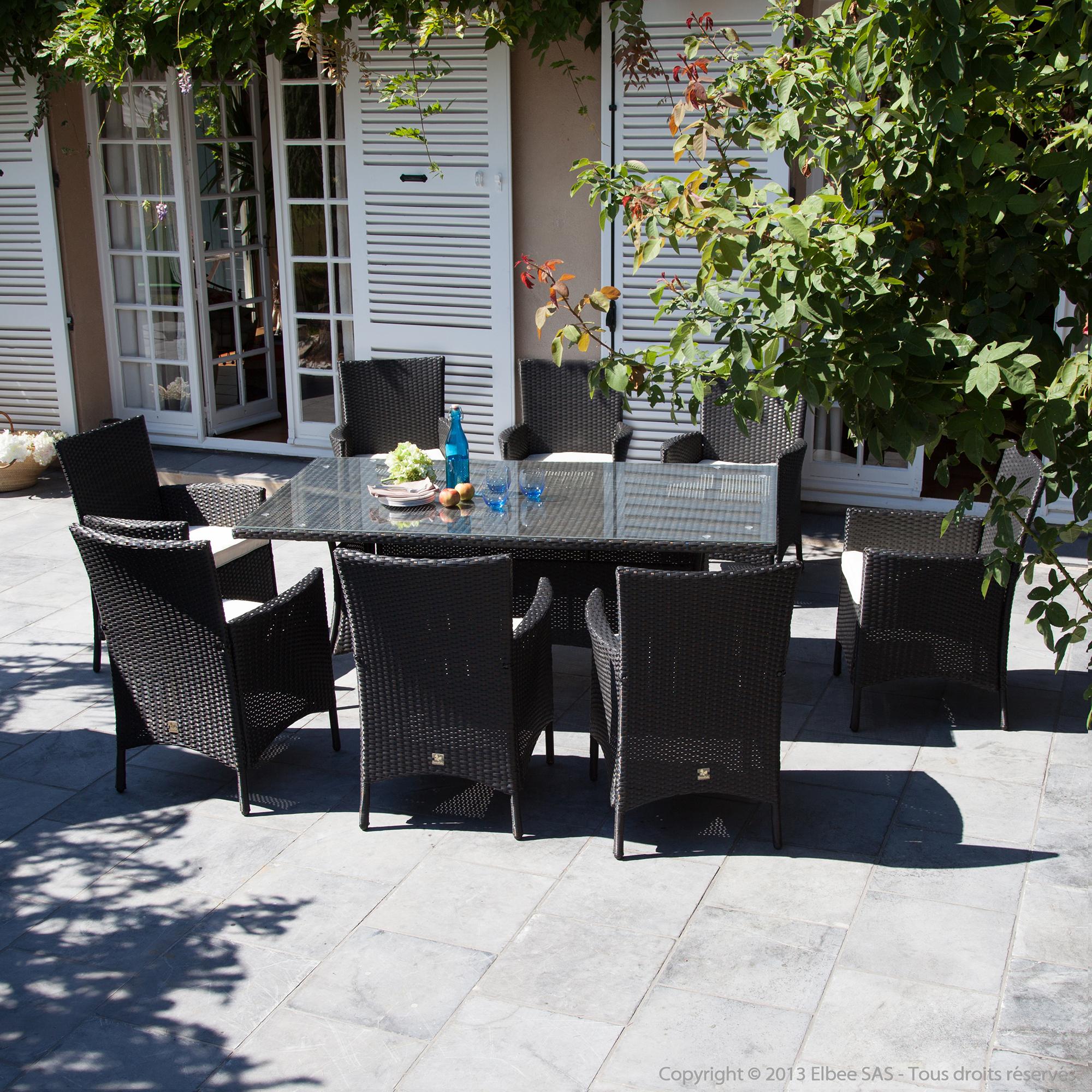 Shogun Élégant Dans Le Style Salon Jardin 8 Places - Thqeef intérieur Salon De Jardin En Soldes