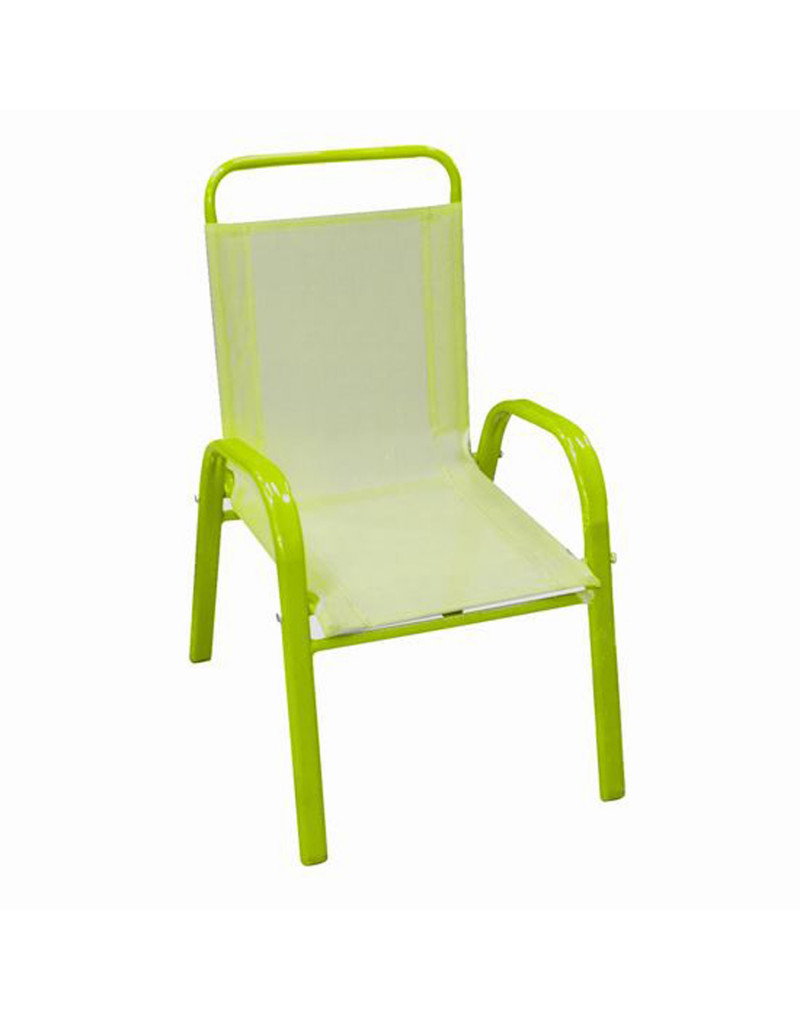 Siège D'enfant (60X43X37 Cm) Vert avec Chaise De Jardin Verte