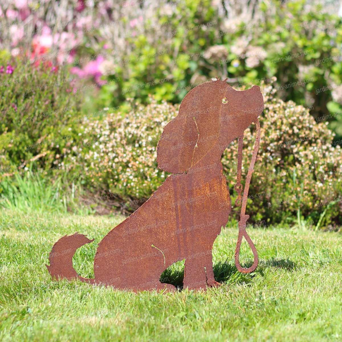 Silhouette Chien - Déco De Jardin En Métal tout Animaux Deco Jardin