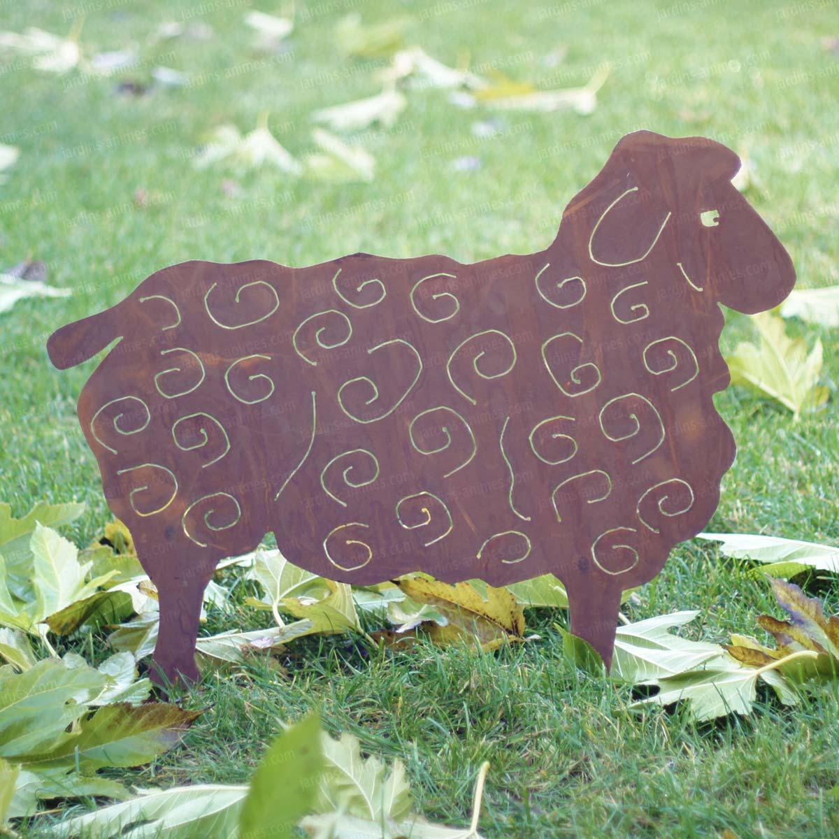Silhouette Mouton Au Choix - Déco De Jardin En Métal serapportantà Animaux Fer Forgé Jardin