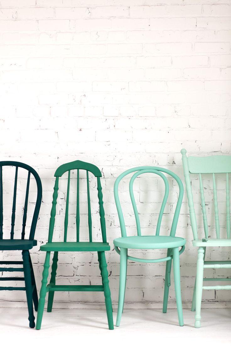 Sillas De Diferentes Tonalidades, Un Mismo Color. #ideas ... tout Chaise De Jardin Casa