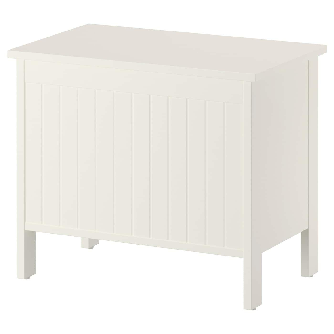Silverån Banc Avec Rangement - Blanc   Banc De Rangement ... encequiconcerne Coffre De Jardin Ikea