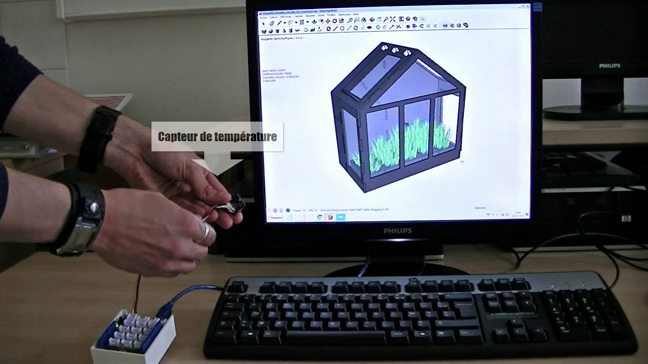 Simulation Du Fonctionnement De La Mini-Serre Automatisée Sur Sketchup Avec  Arduino à Fonctionnement D Une Serre De Jardin