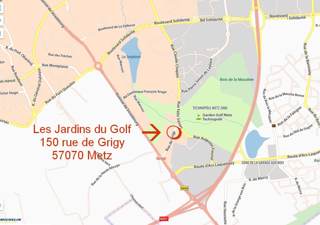 Situation Géographique – Les Jardins Du Golf à Les Jardins Du Golf Metz