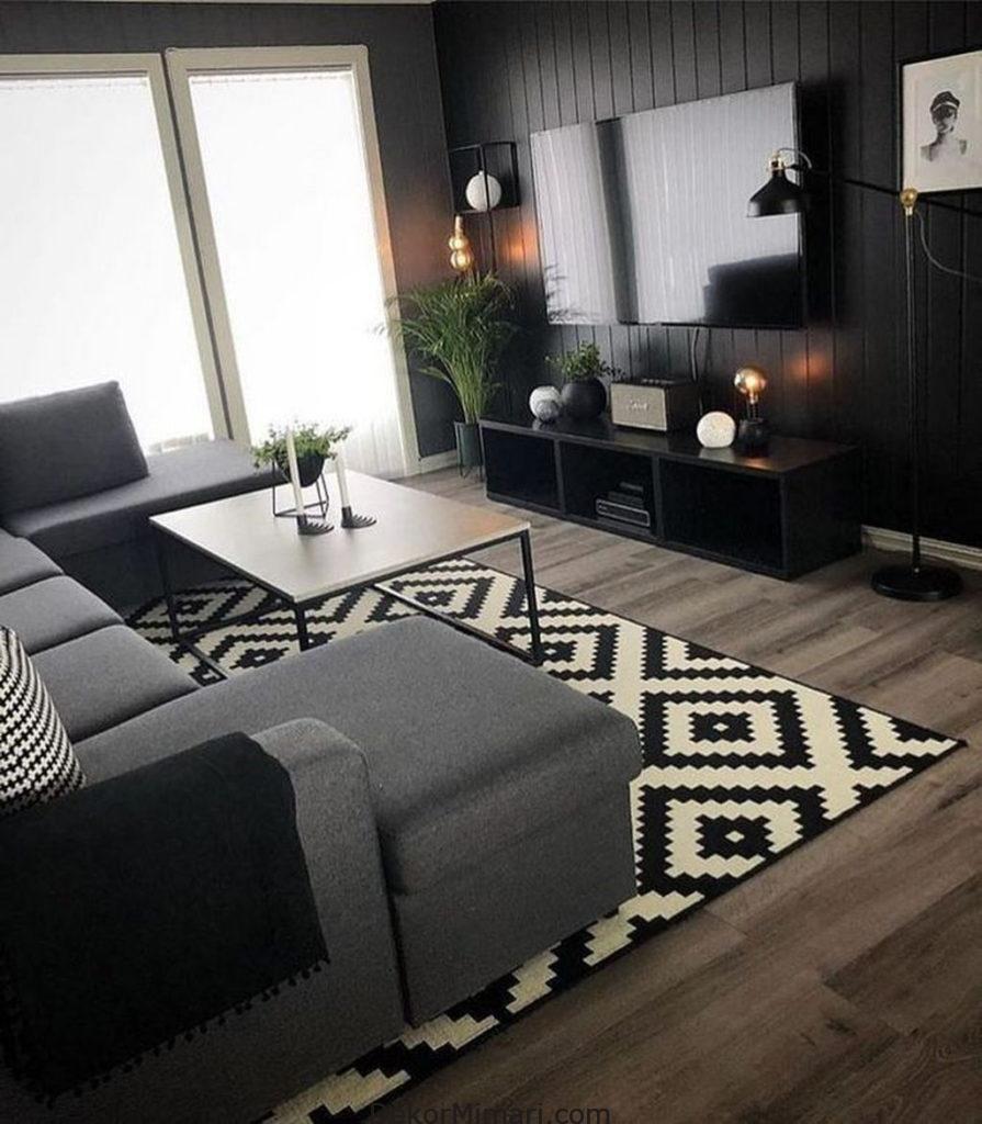 Siyah Mobilya Kombinleri | Ikea Oturma Odası, Oturma Odası ... avec Salons De Jardin Ikea