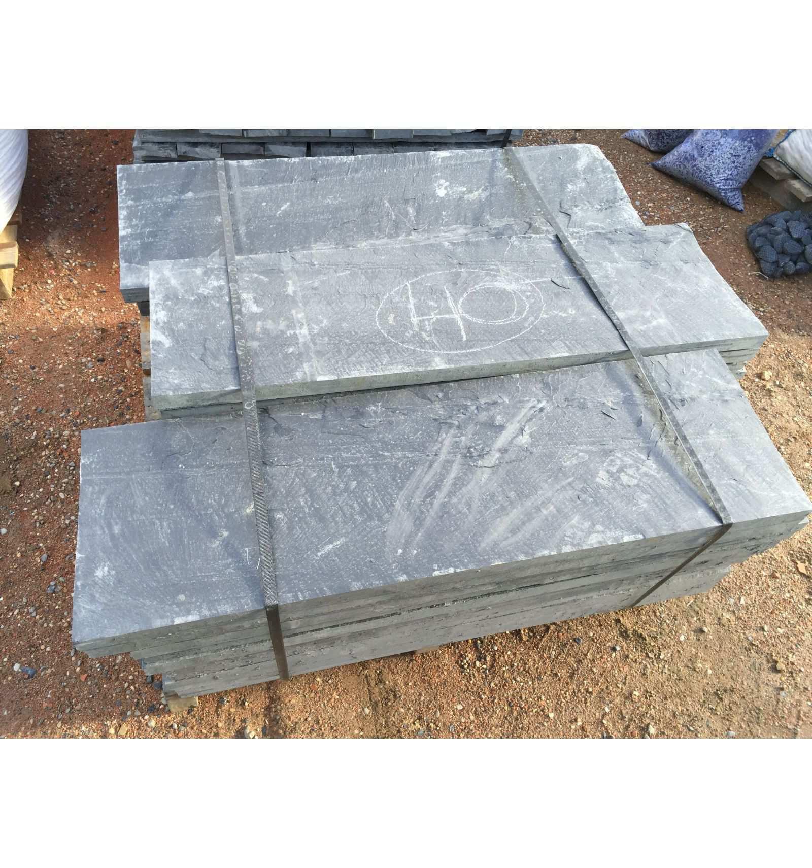 Slate Slab 100X50X3 Cm. - Velestone - Cantos Rodados Piedra ... avec Geotextile Jardin