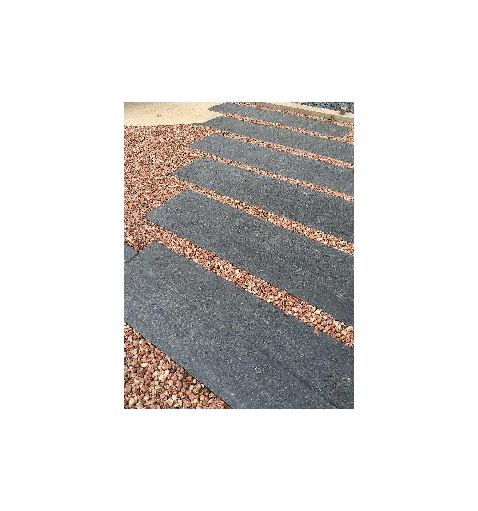 Slate Slab 150X30X3 Cm. - Velestone - Galets Graviers Et ... pour Dalle De Jardin Pvc