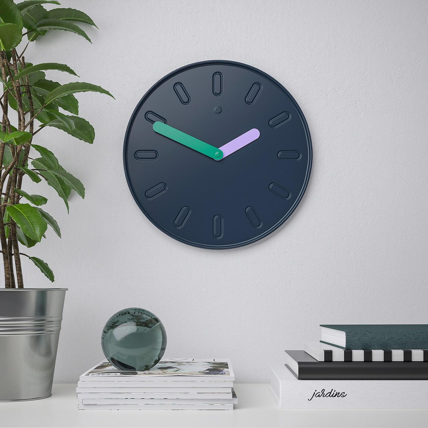 Slipsten Wall Clock - Dark Blue 35 Cm encequiconcerne Desserte Jardin Ikea