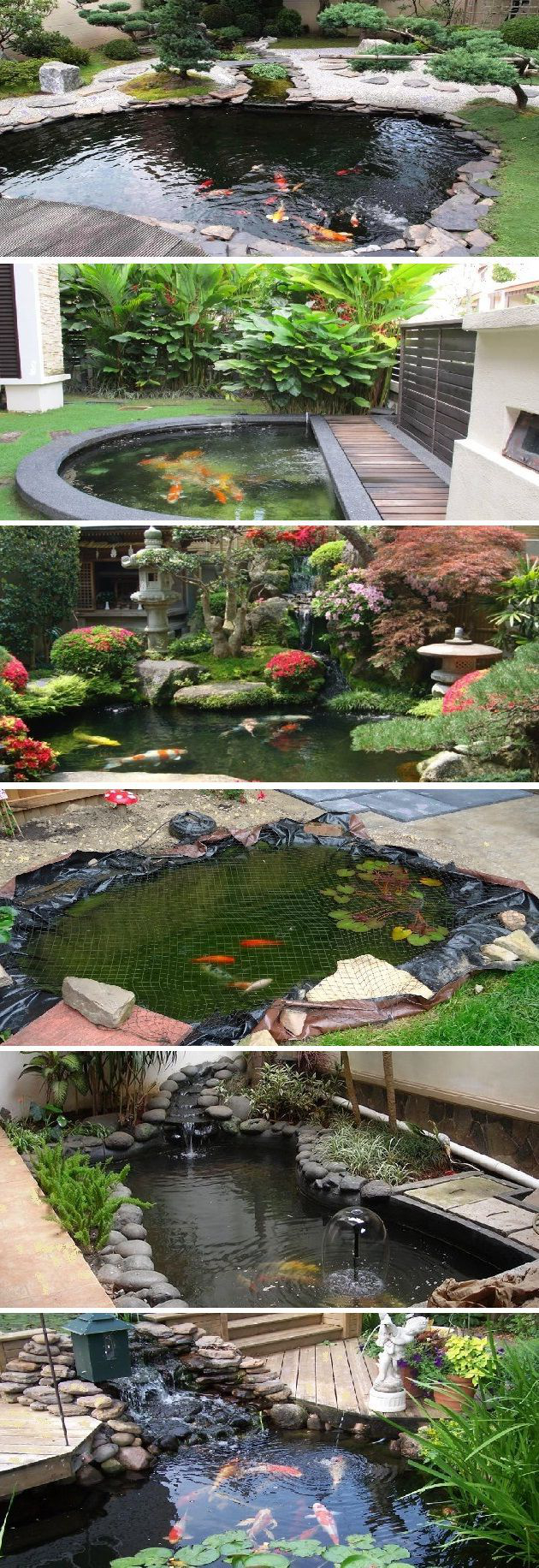 Small Koi Pond Design Ideas (Pond Rocks) | Jardin D'eau ... à Bac A Poisson Jardin
