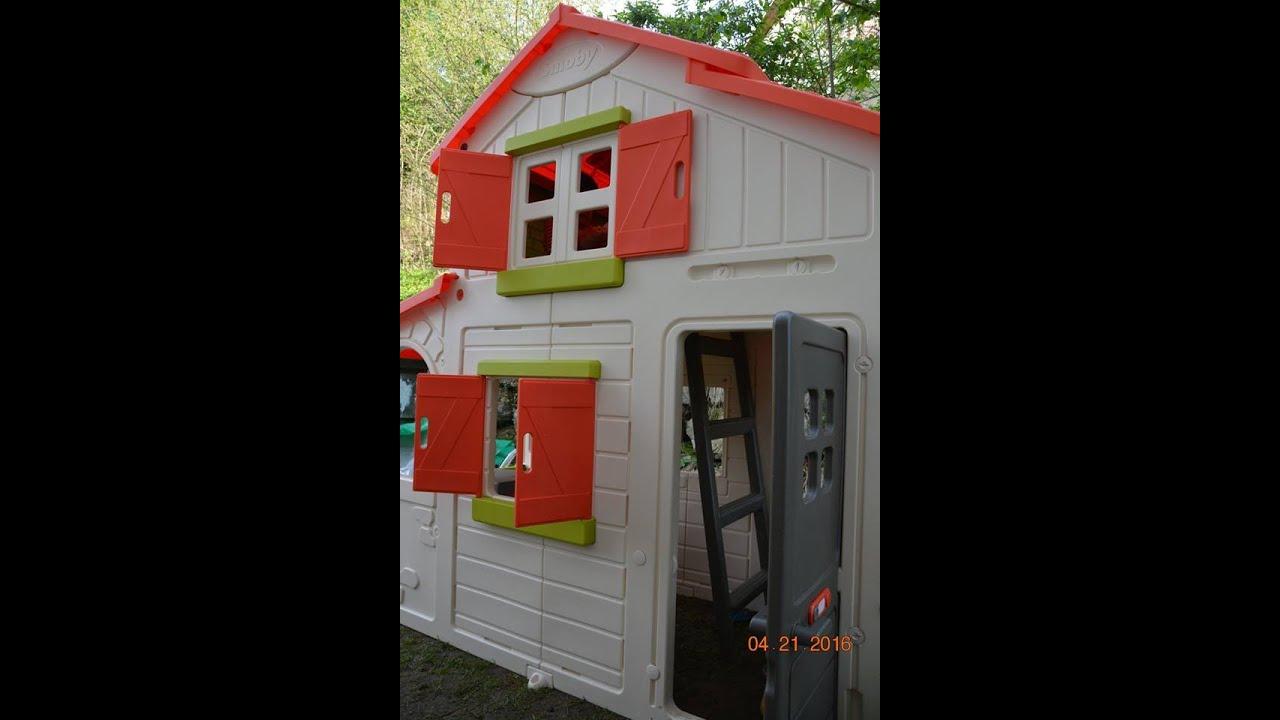 Smoby Duplex Playhouse destiné Cabane De Jardin Smoby