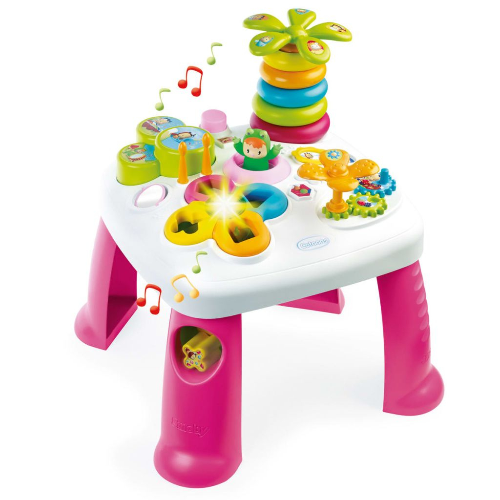 Smoby Table D'activité Cotoons Rose 211170 | Vidaxl.be pour Maison De Jardin Smoby