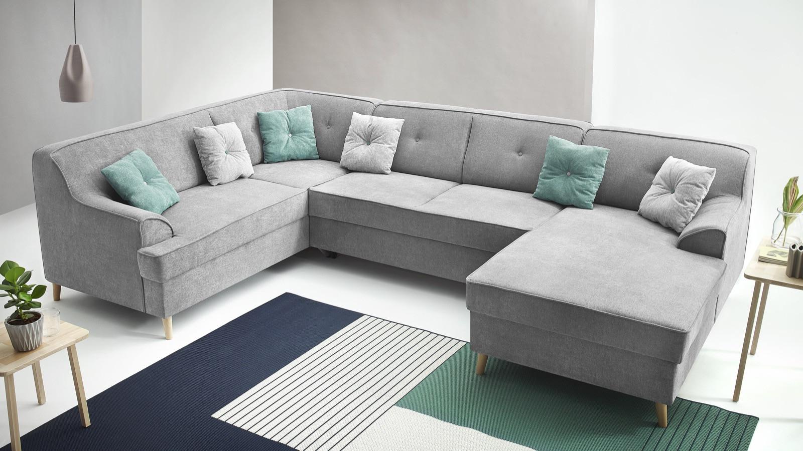 Sofa Panoramic Xxxl Convertible Alfa | Bobochic ® à Table De Jardin Xxl