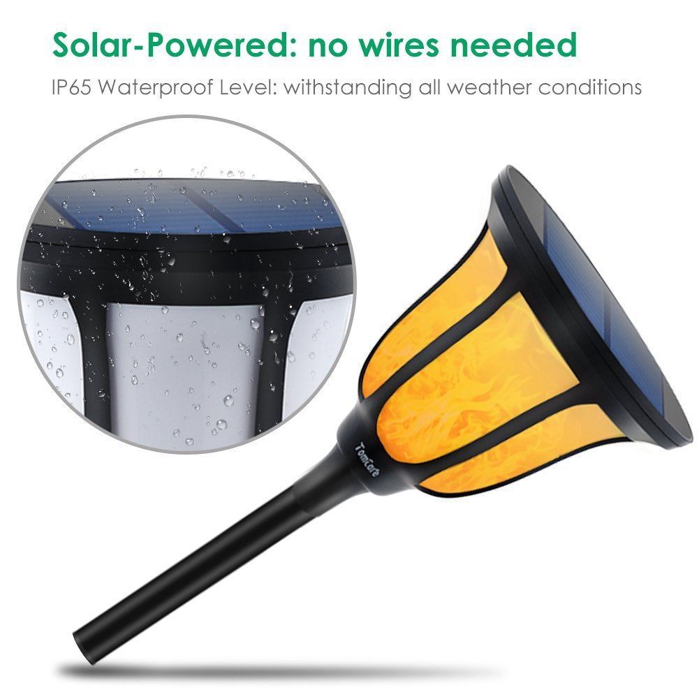 Solar Torches Light Outdoor Ip65 Waterproof Flame For Patio ... tout Torches De Jardin
