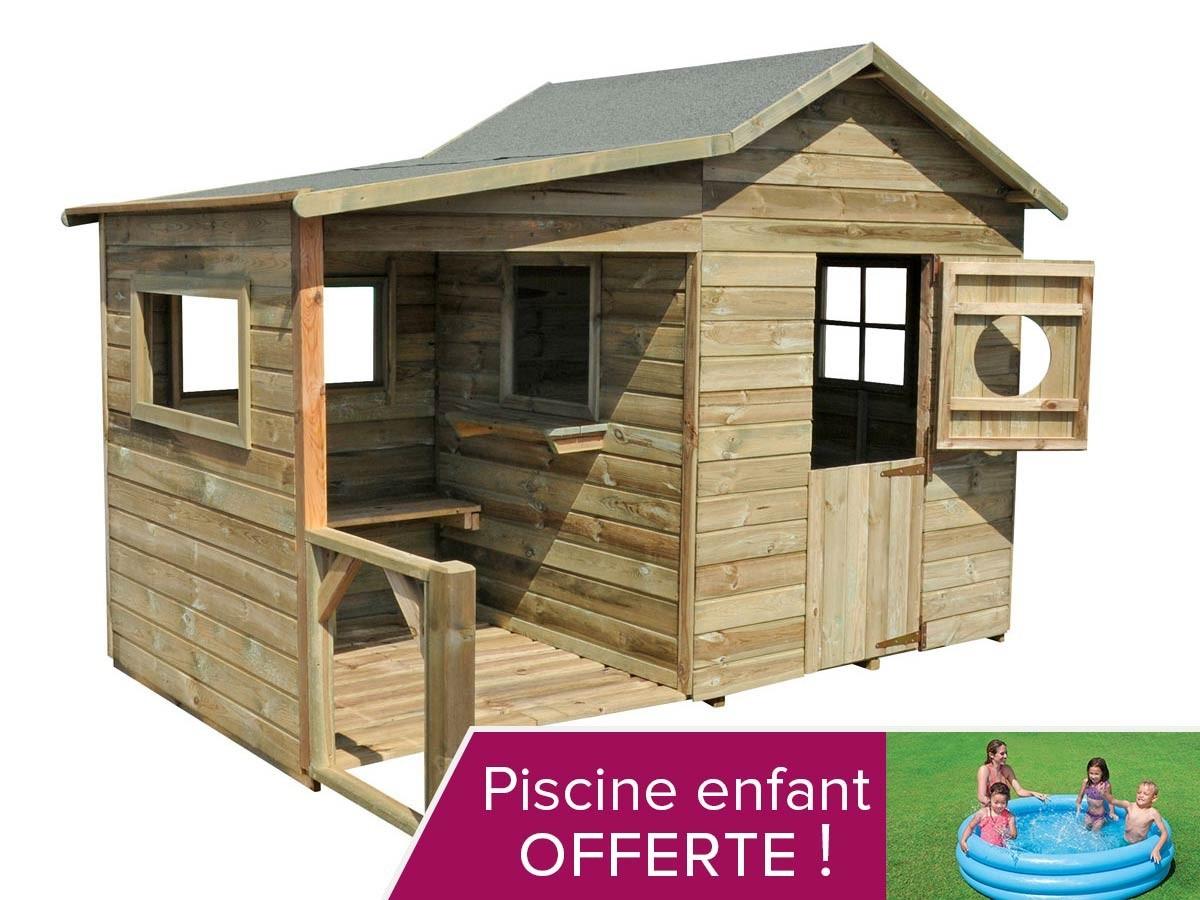 Soldes Maison Jardin Enfant - L'univers Du Bébé intérieur Cabane De Jardin En Bois Pas Cher