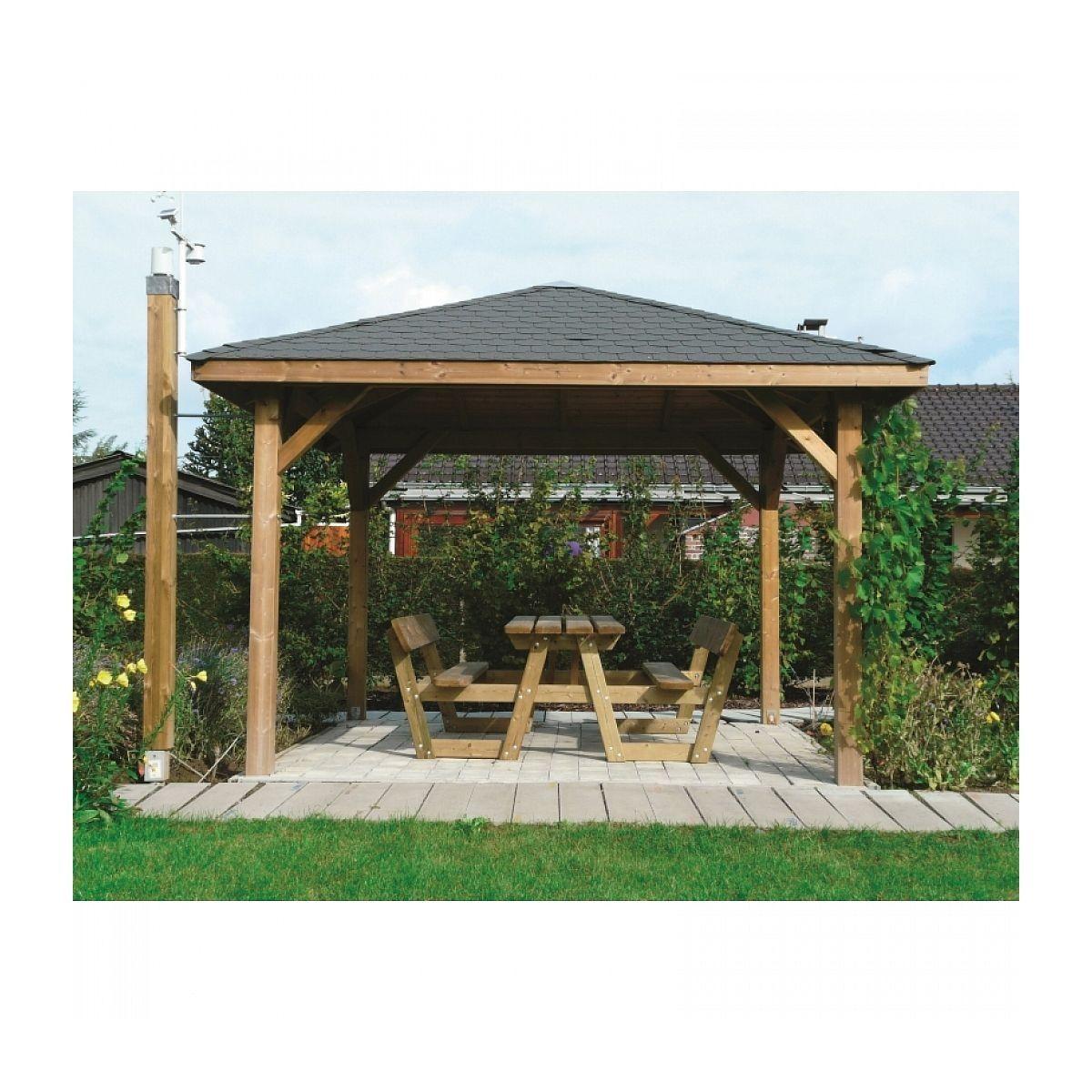 Solid Abri De Jardin Maisonnette Chalet De Jardin Kiosk ... pour Kiosque De Jardin En Bois Pas Cher
