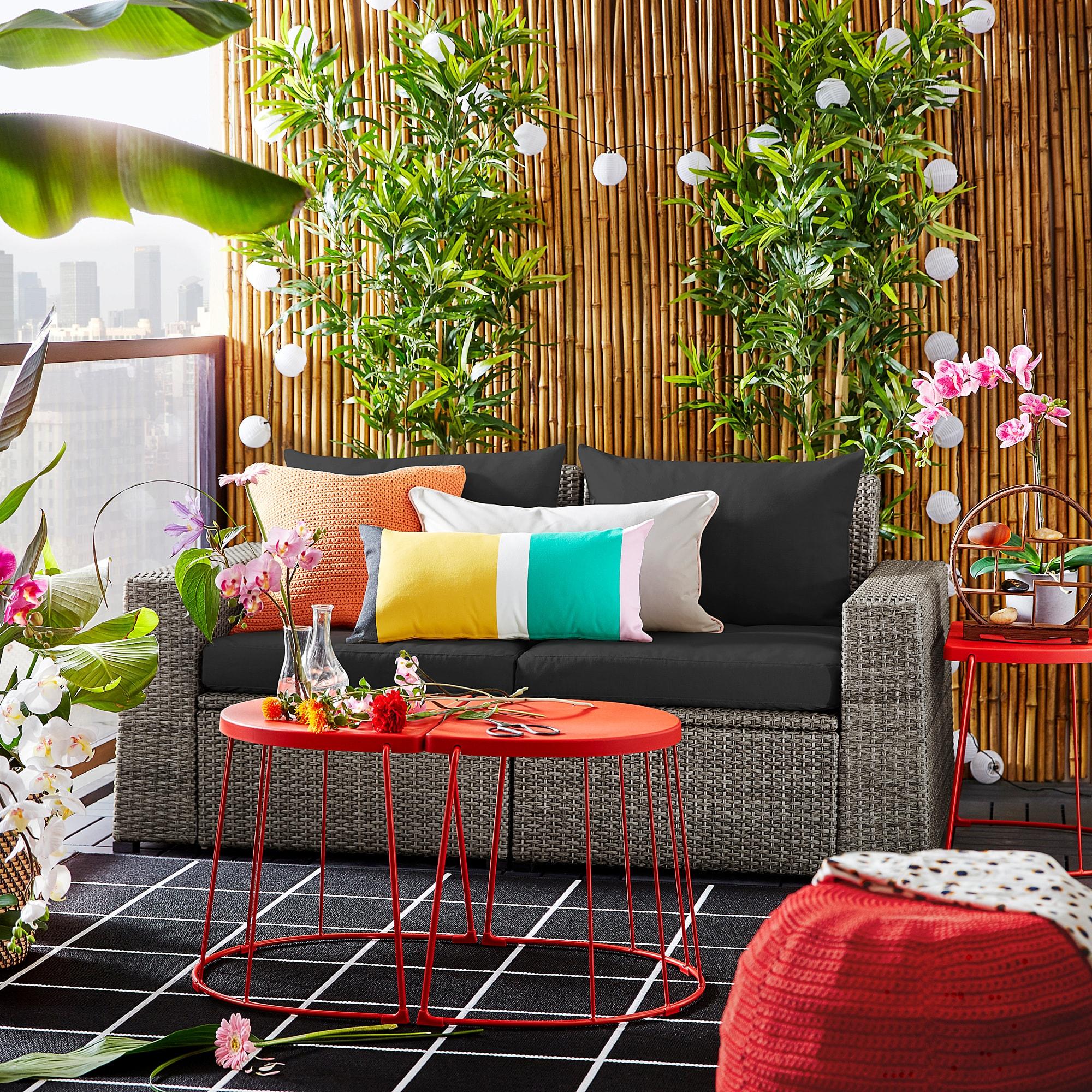 Sollerön 2-Seat Modular Sofa, Outdoor - Dark Gray, Hållö ... avec Meuble De Jardin Ikea