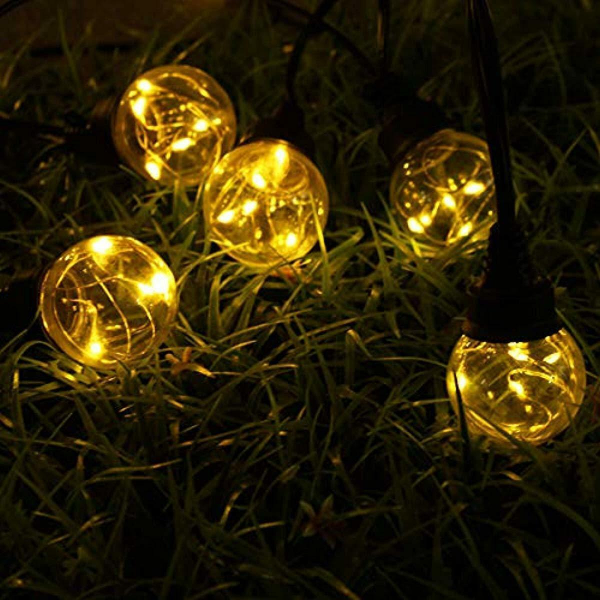 Solmore Guirlande Lumineuse 9.2M 25 Boules Led G45 Ampoule ... destiné Boule Lumineuse Jardin