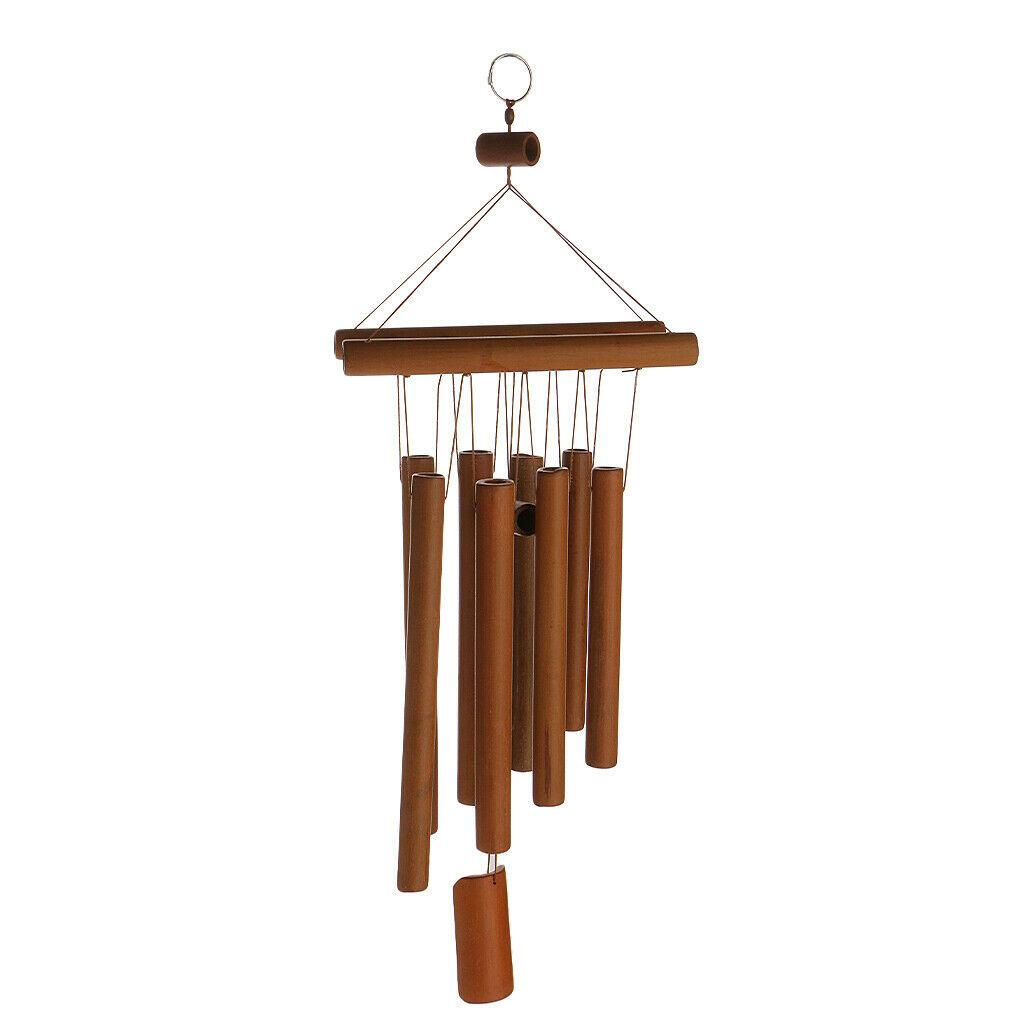 Son Argréable Carillon À Vent En Bambou Ornement Suspendu ... tout Carillon Bambou Jardin