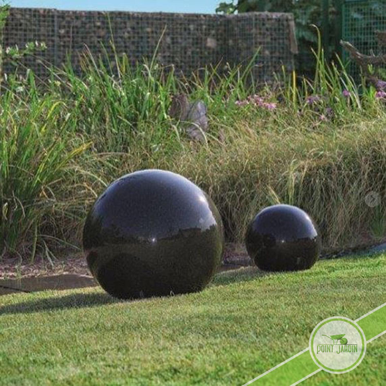 Sphère Granit 40Cm encequiconcerne Boule Deco Jardin