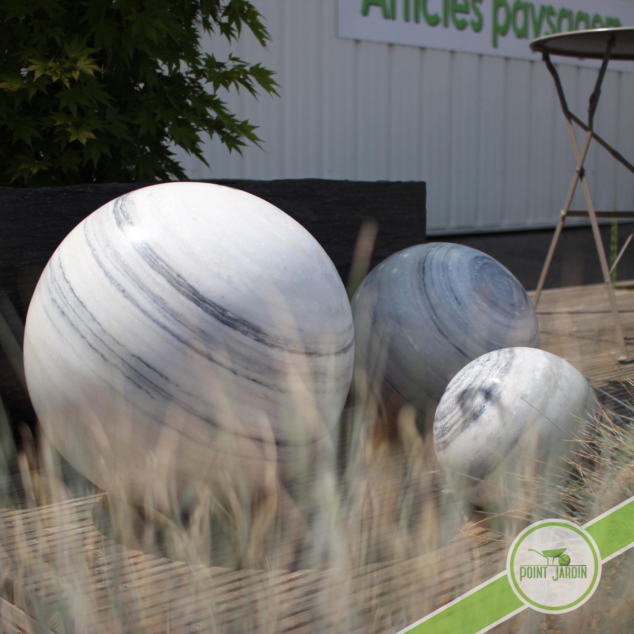 Sphère Marbre 20Cm intérieur Boule Deco Jardin