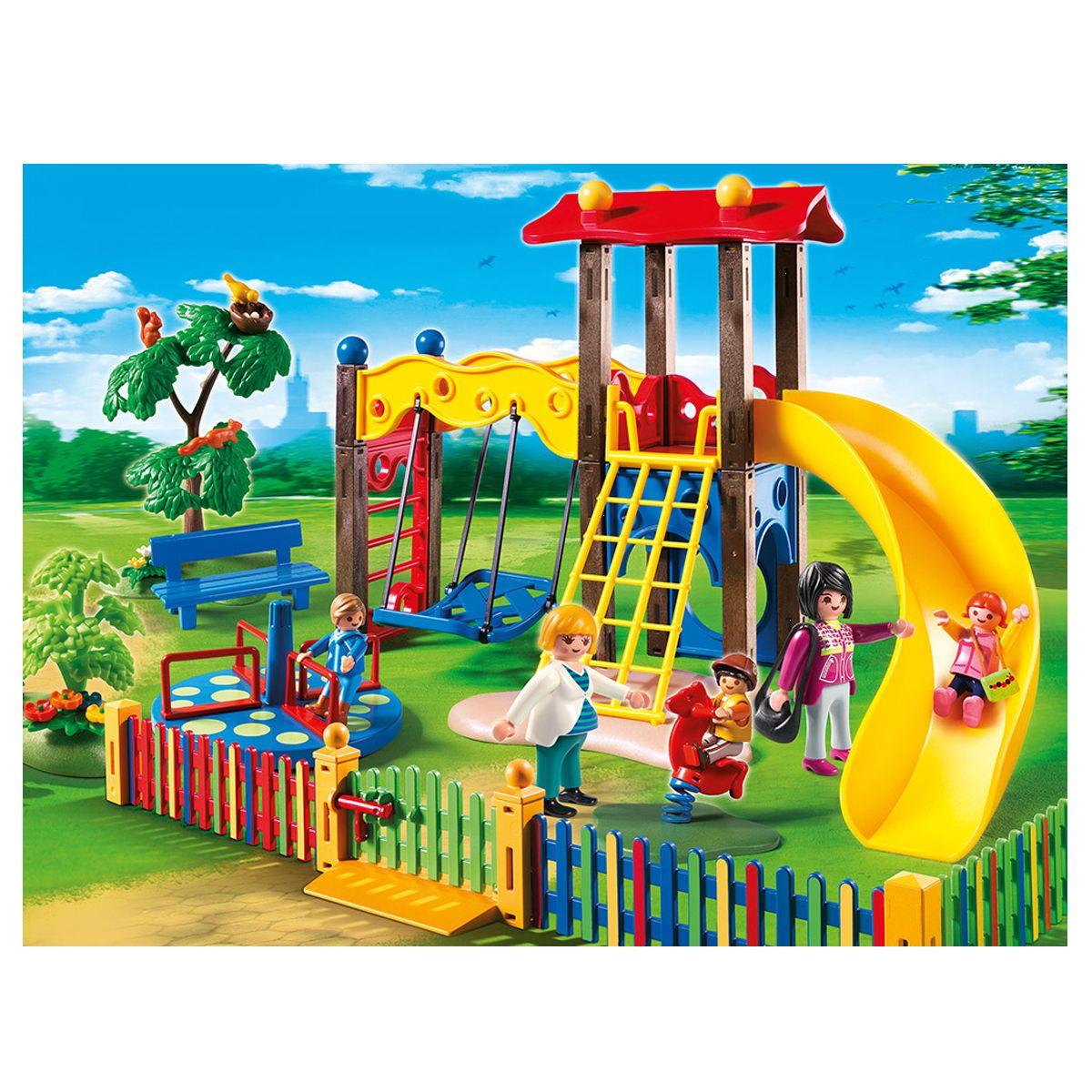 Square Pour Enfants Avec Jeux Playmobil City Life - 5568 ... à Playmobil Jardin D Enfant