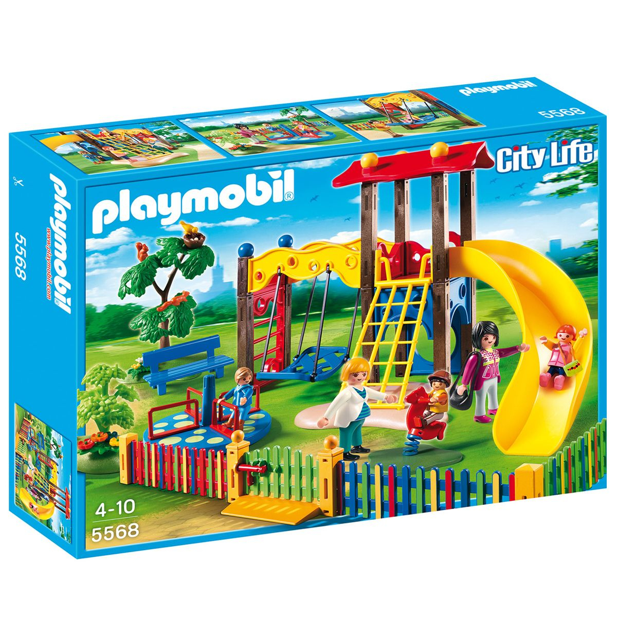 Square Pour Enfants Avec Jeux Playmobil City Life - 5568 ... encequiconcerne Grand Jardin D Enfant Playmobil