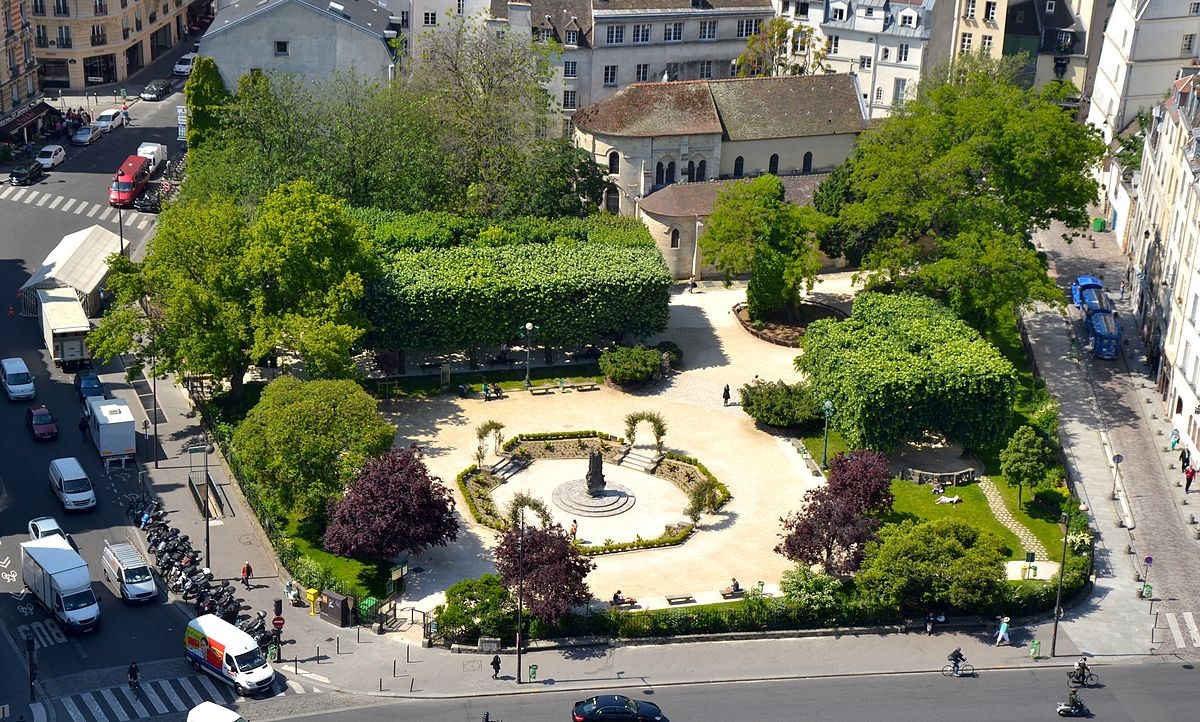 Square René-Viviani — Wikipédia intérieur Petite Fontaine De Jardin