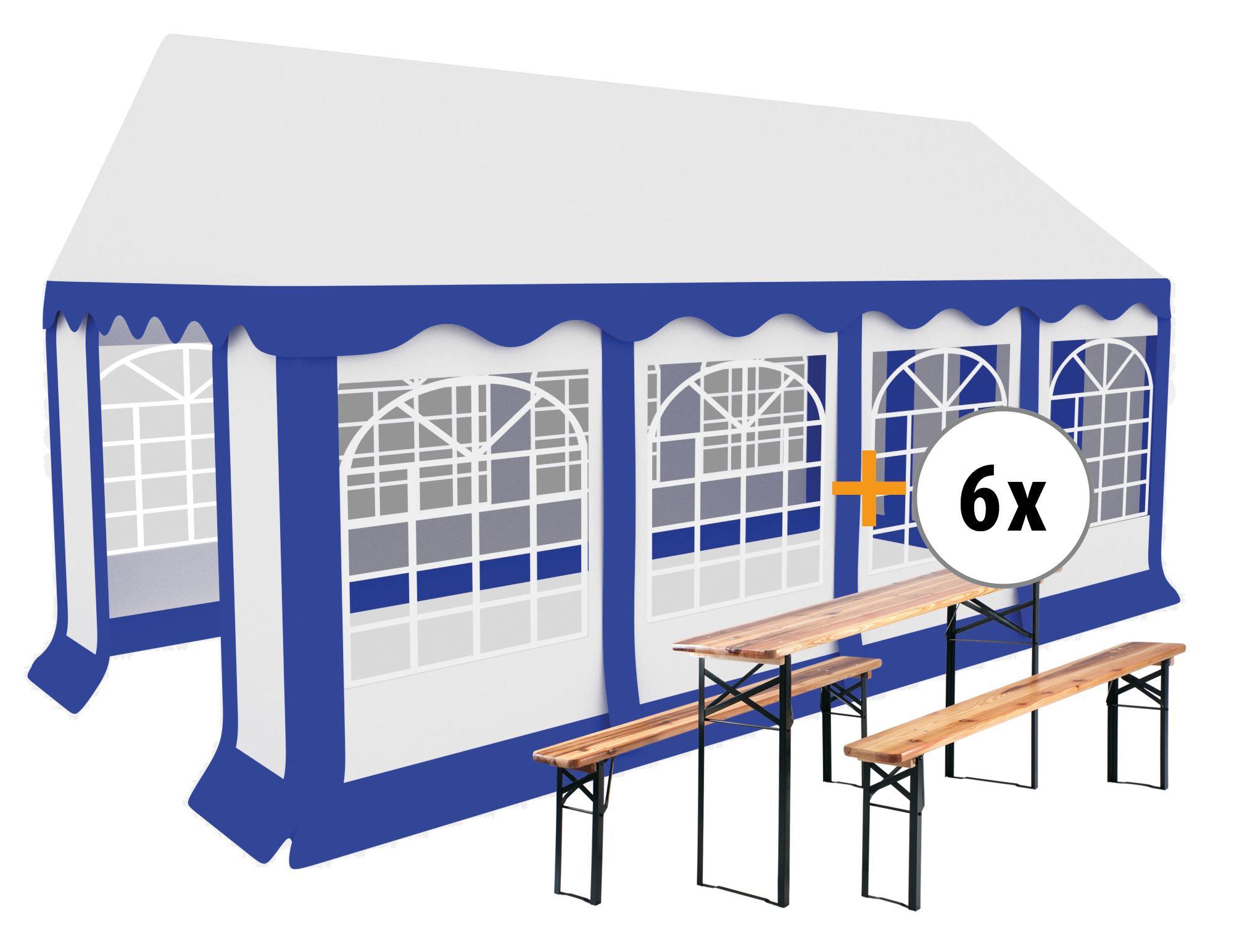 Stagecaptain Bavaria Pavillon De Jardin 4X8M Set, 6 Sets D'une Table Et 2  Bancs Compris à Pavillon De Jardin Suisse