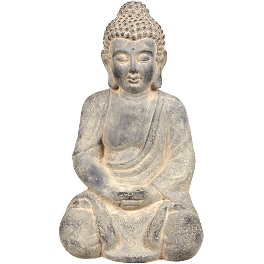 Statue Bouddha Assis Zen tout Tete De Bouddha Pour Jardin