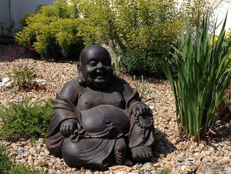 Statue Bouddha Rieur Chinois 43 Cm Décoration Zen Pour ... dedans Bouddha Pour Jardin Pas Cher