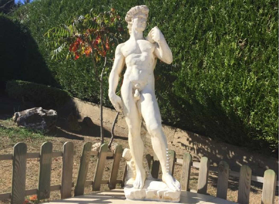 Statue De Jardin En Pierre David concernant Statue De Jardin En Pierre Reconstituée