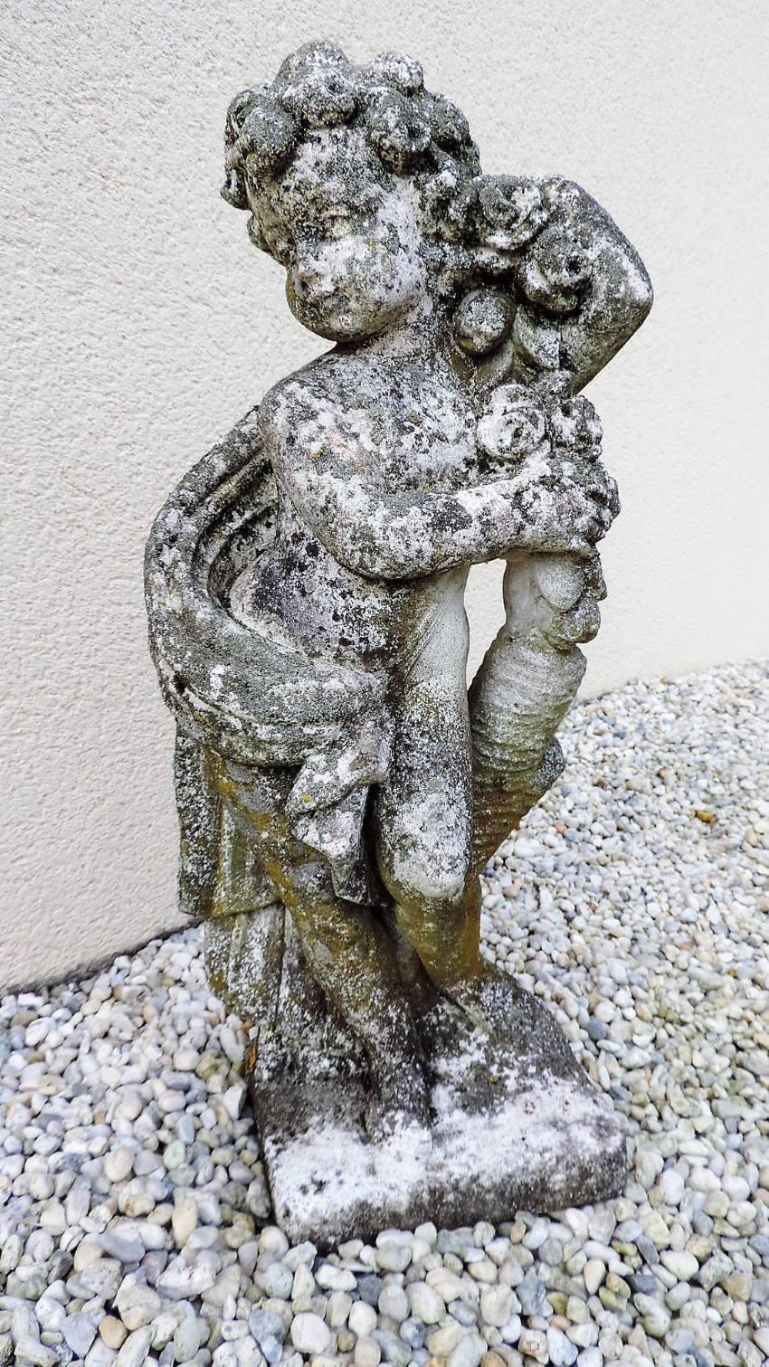 Statue En Pierre   Brocanta avec Statue De Jardin En Pierre Reconstituée