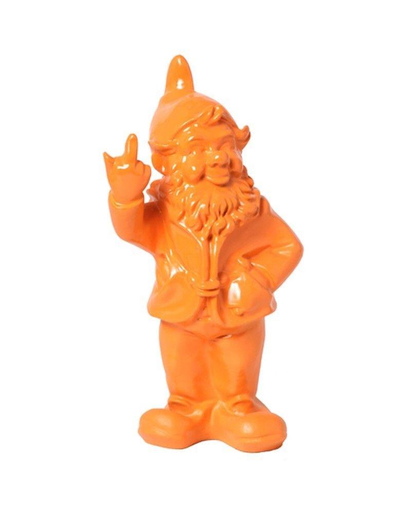 Statue En Résine Nain De Jardin Doigt D'honneur Orange - 33 ... dedans Nain De Jardin Doigt D Honneur