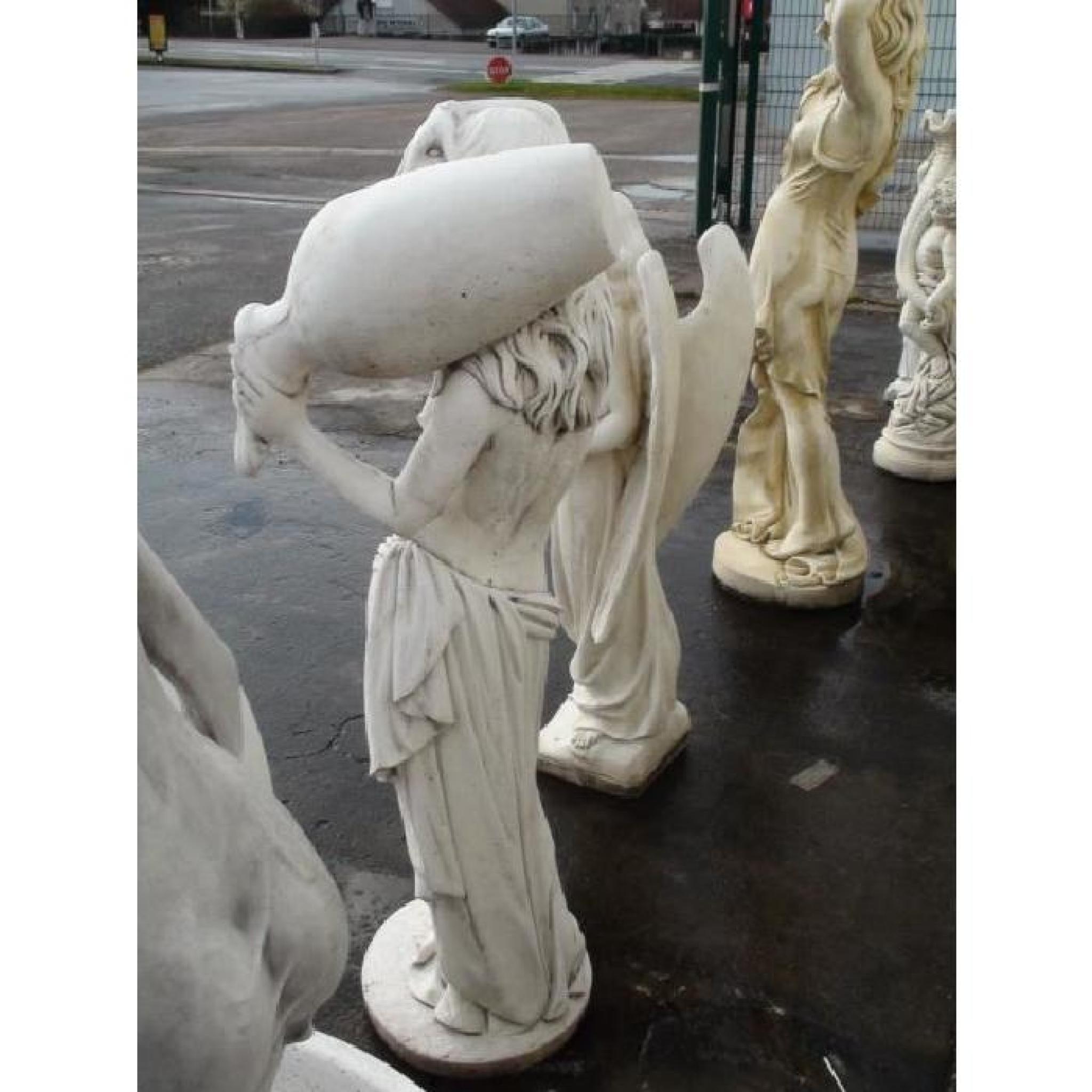Statue Femme Esclave À La Jarre pour Statue De Jardin Pas Cher