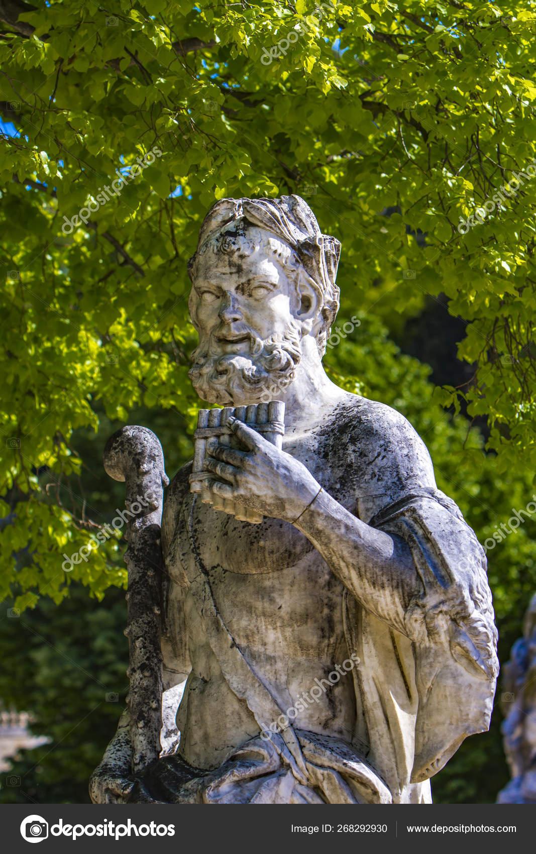 Statue From Les Jardins De La Fontaine In Nimes, France ... concernant Statue Fontaine De Jardin