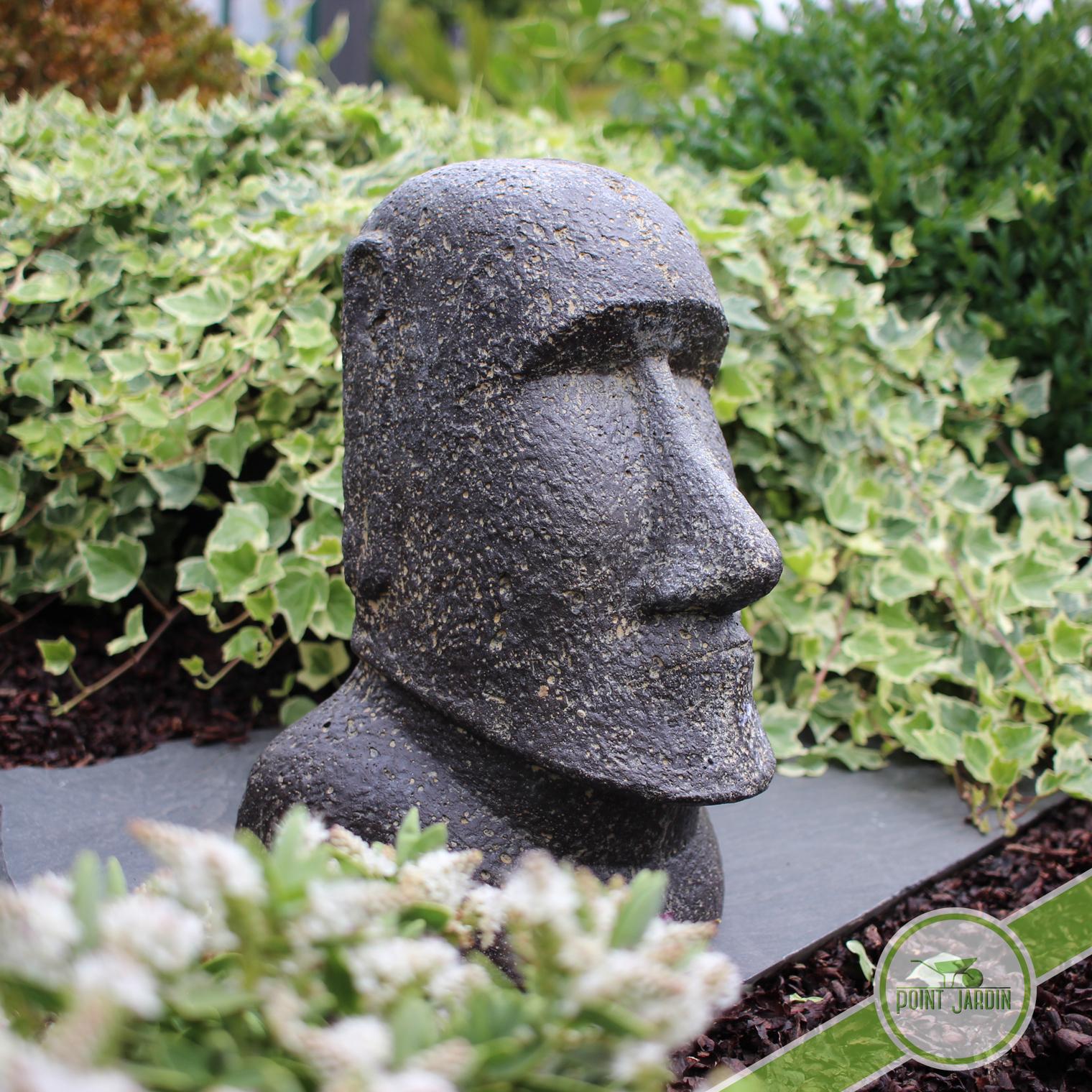 Statue Moai 30Cm avec Statut De Jardin