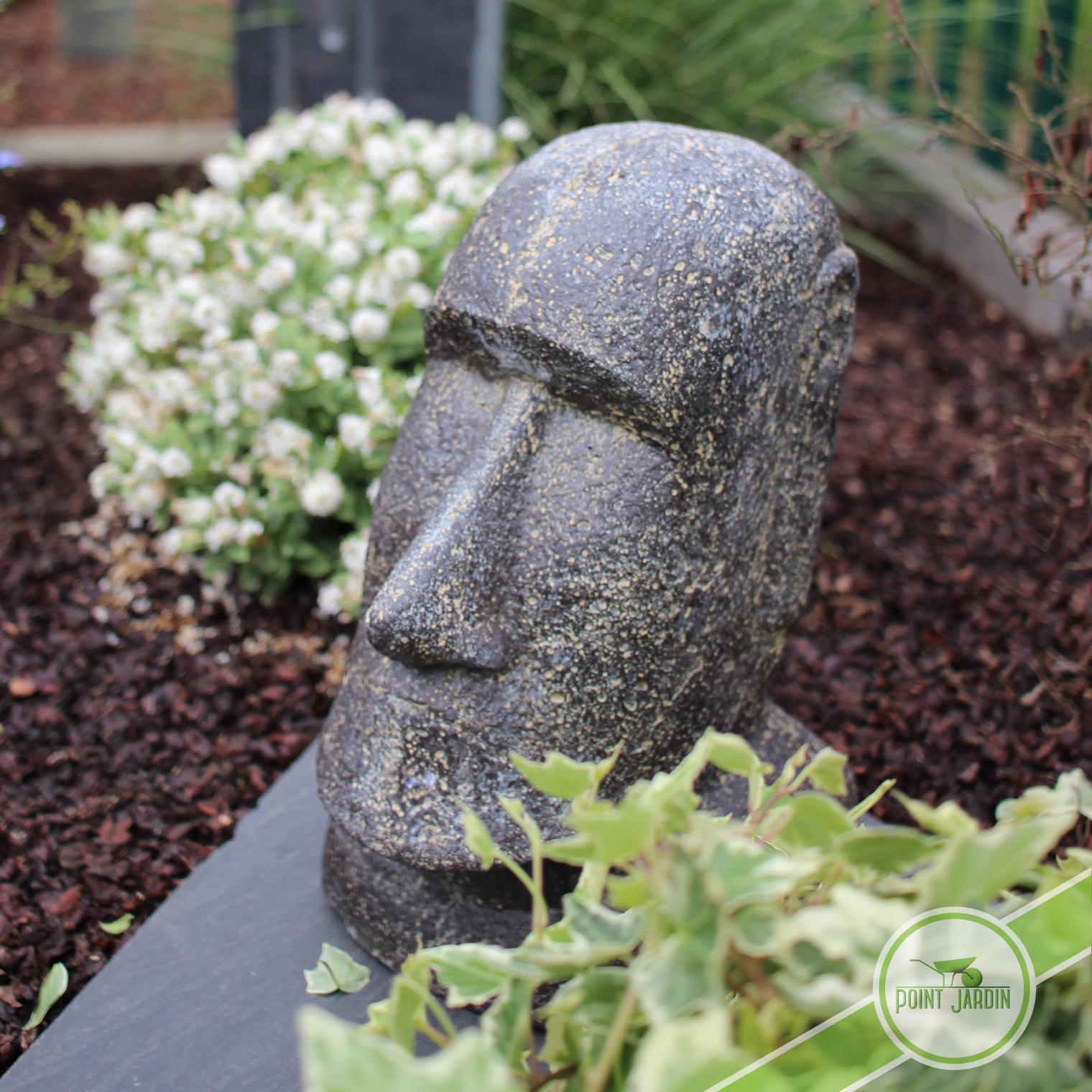 Statue Moai 30Cm encequiconcerne Statut De Jardin