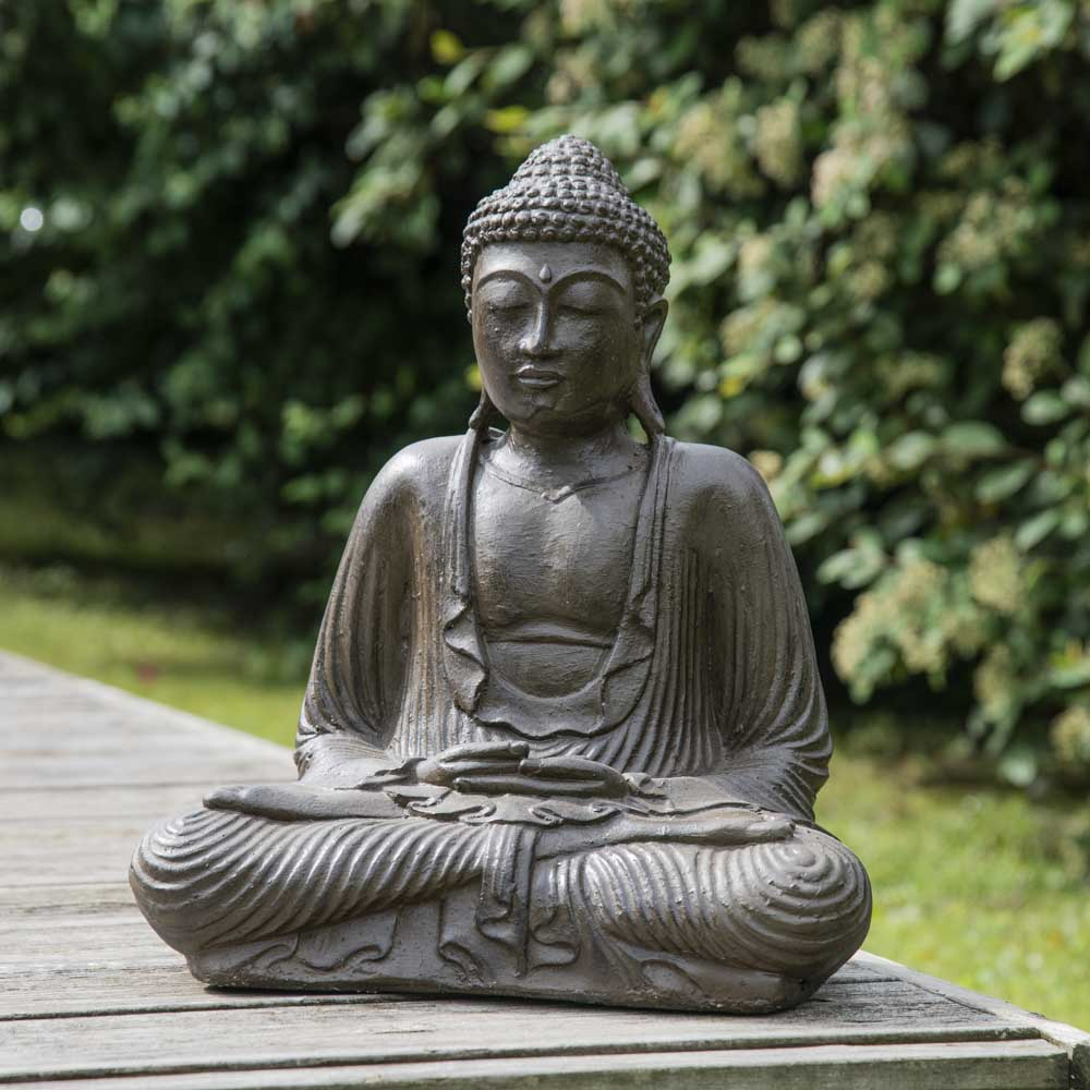 Statues Wanda Collection Statue Jardin Bouddha Assis En ... tout Statue Bouddha Exterieur Pour Jardin