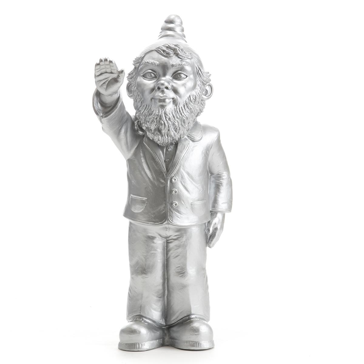 Statuette, Le Nain Empoisonne, De Ottmar Hörl Silver intérieur Nain De Jardin Fuck