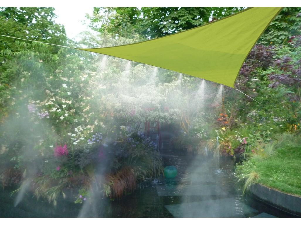Stínící Plachta S Vodními Tryskami (Trojúhelník) Limetka concernant Brumisateur Jardin