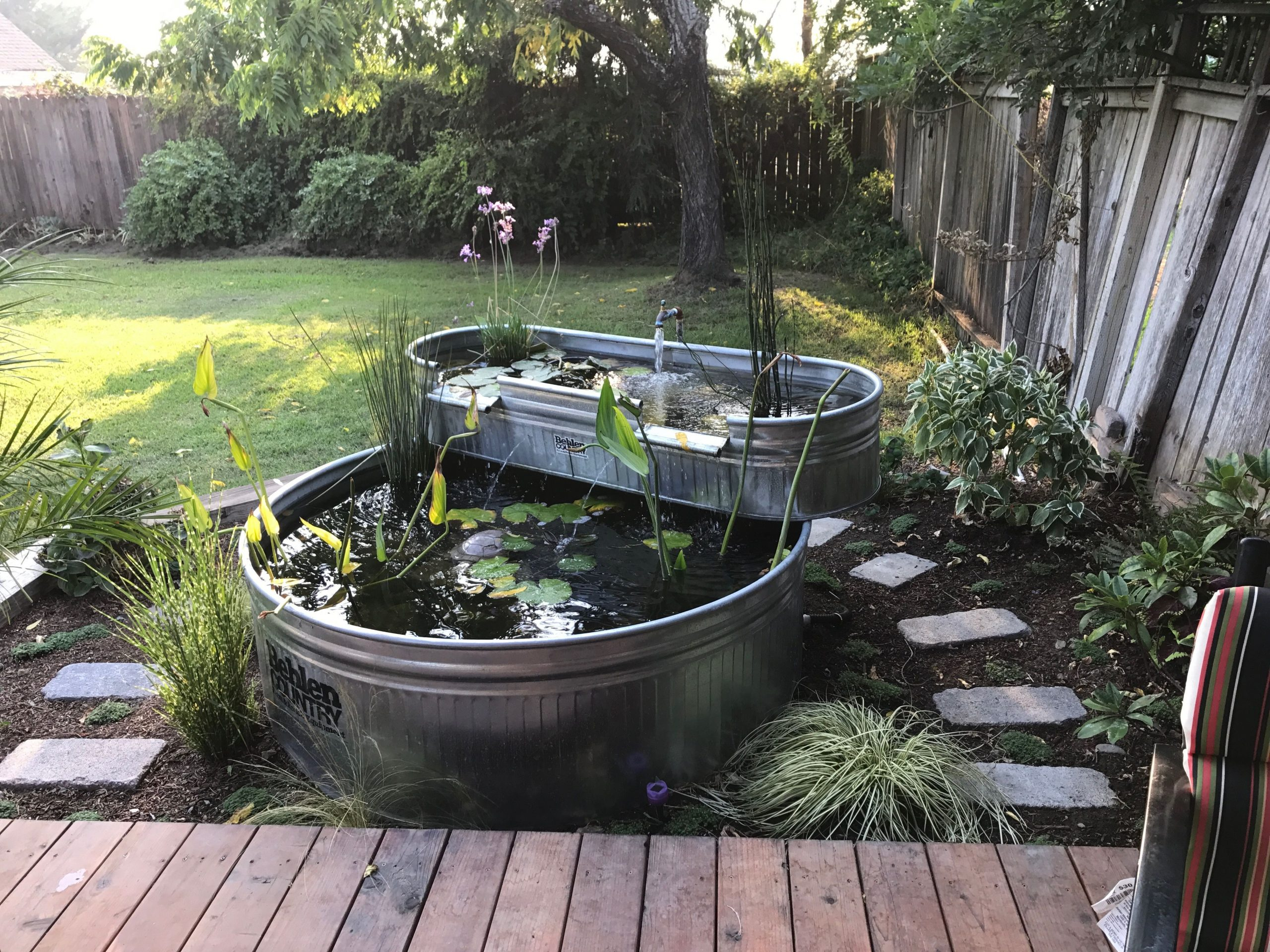 Stock Tank Ponds | Fontaine De Jardin, Amenagement Jardin ... à Construire Fontaine De Jardin