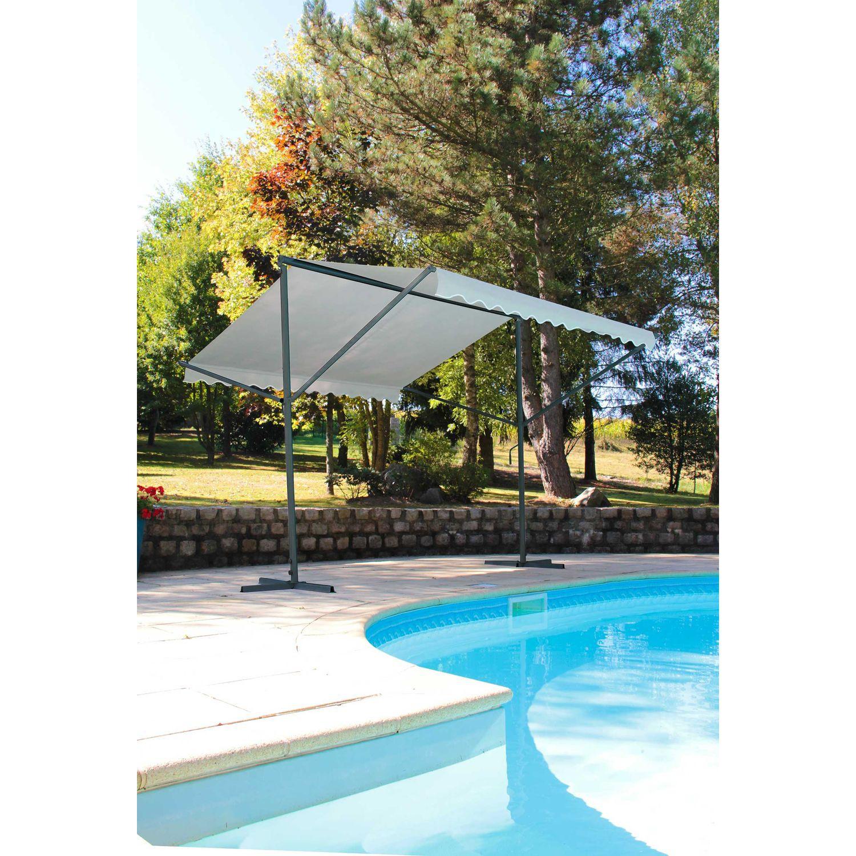 Store Double Pente Provence - 350 X 300 Cm - Ecru - Toilinux pour Store De Jardin Double Pente
