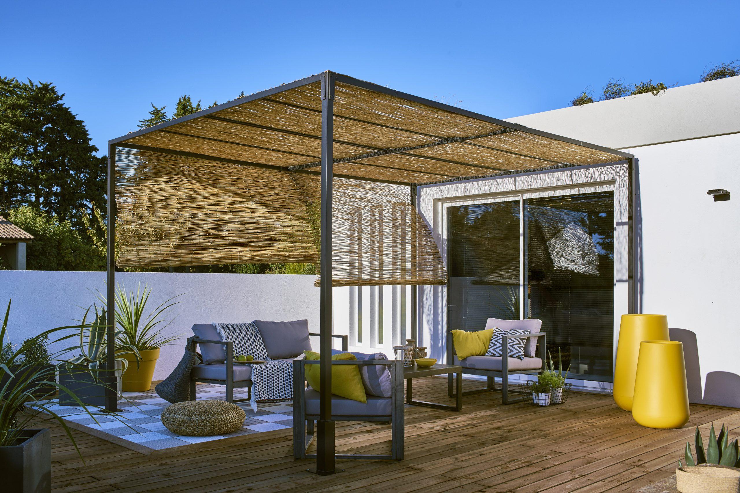 Structure De Tonnelle Autoportante, Acier Noire, 12 M² avec Tonnelle De Jardin Leroy Merlin