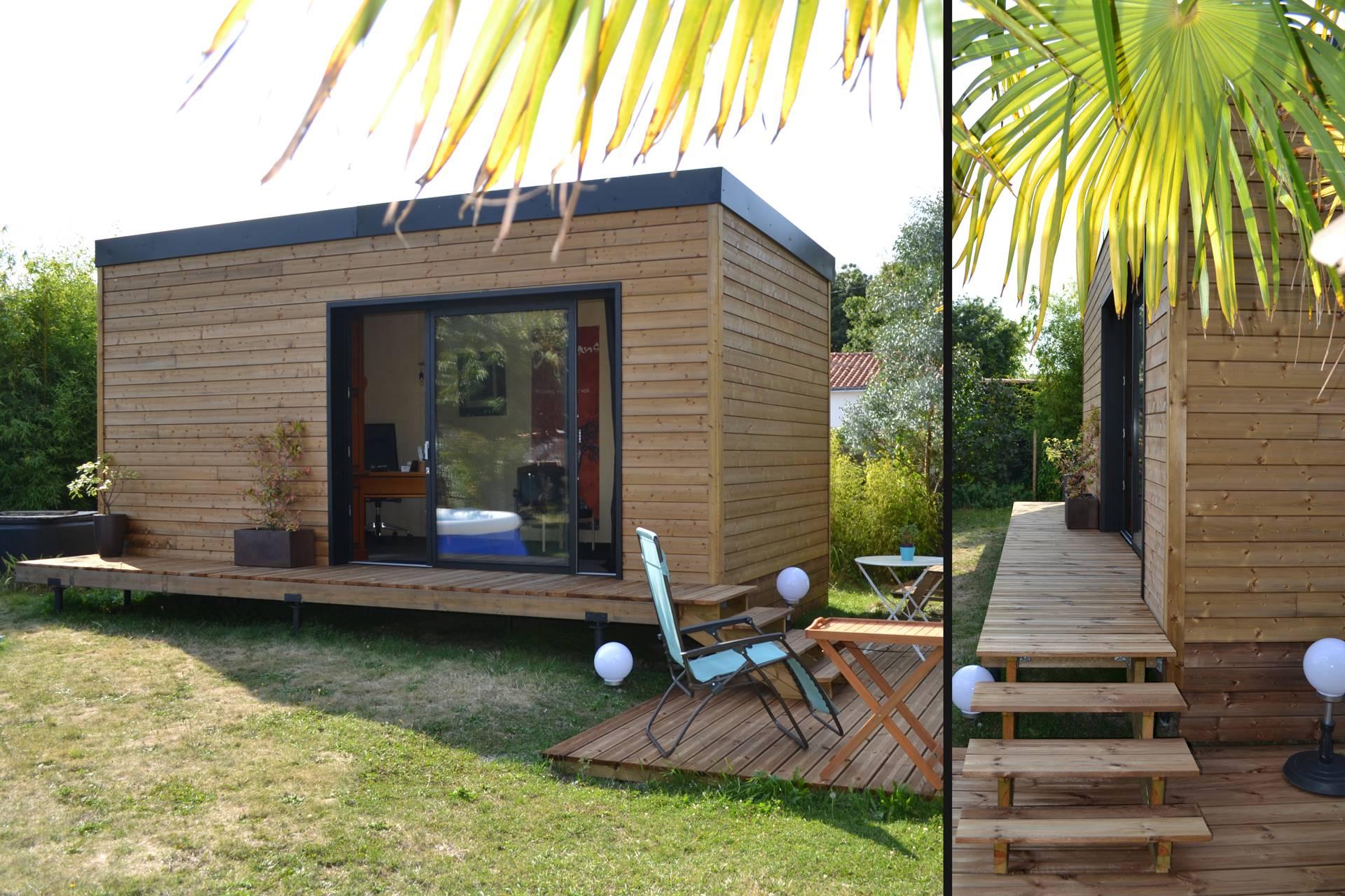 Studio De Jardin 20M2 : Permis De Construire Ou Déclaration ... intérieur Studio De Jardin Habitable