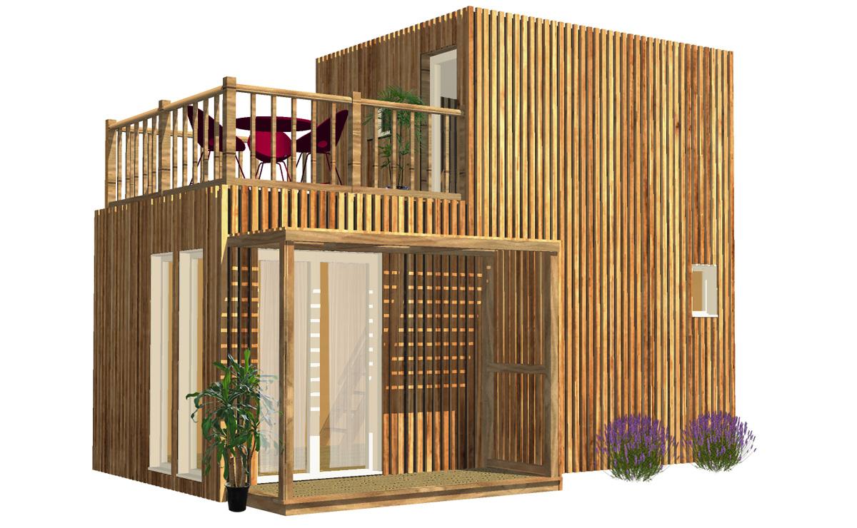 Studio De Jardin Avec Chambre Et Terrasse, 30M² destiné Studio De Jardin Prix