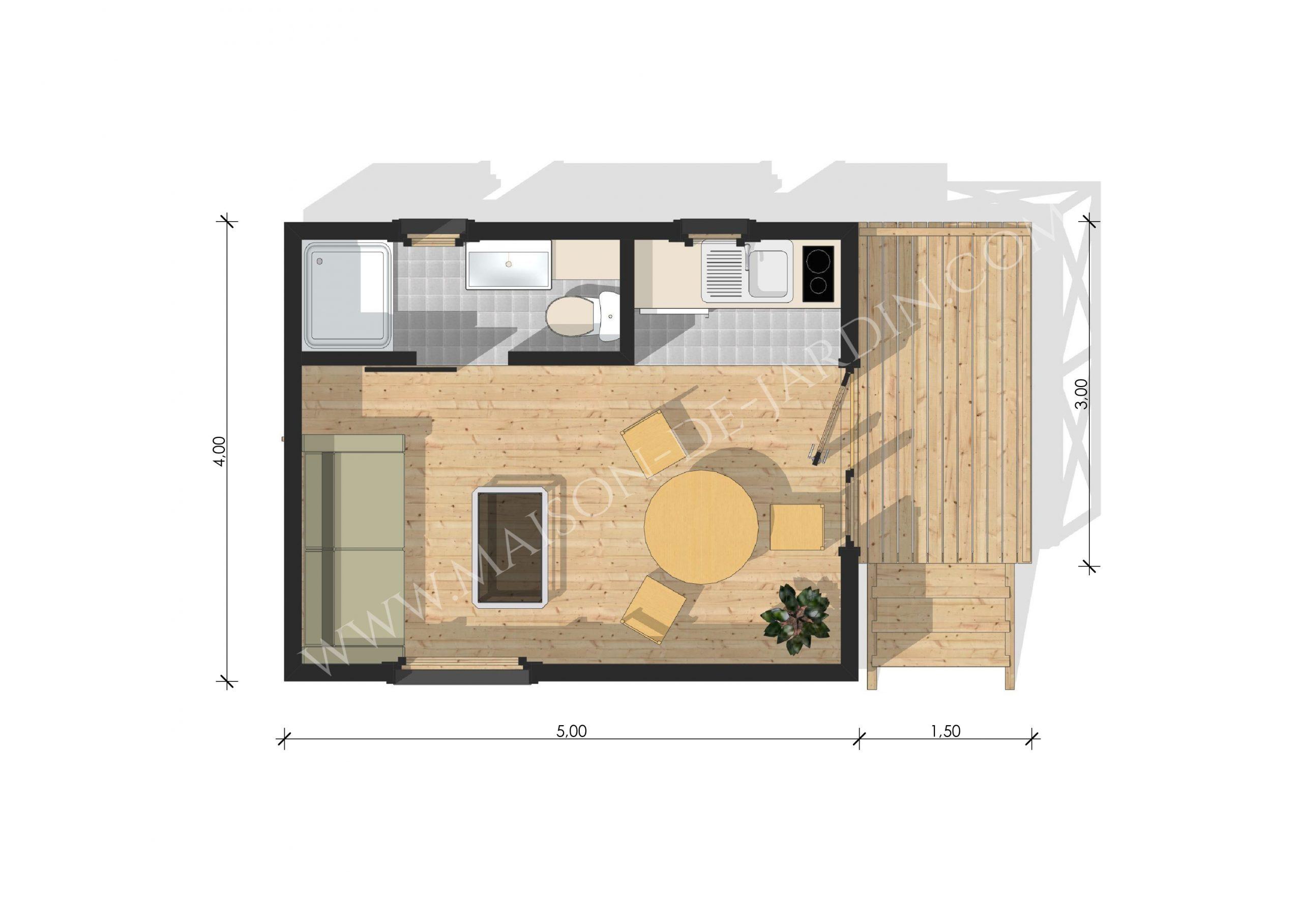 Studio De Jardin Avec Ossature Bois Lyon 20 M² : 26900 € Ttc ... pour Studio De Jardin Prix