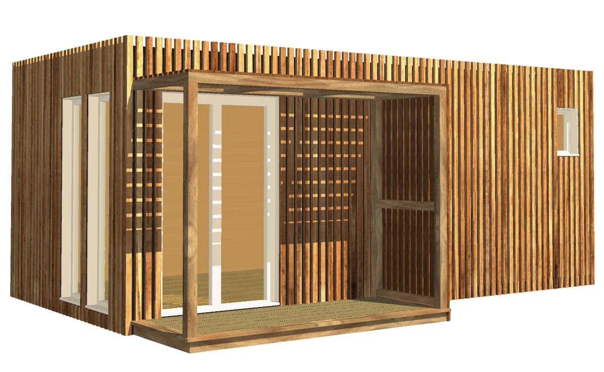 Studio De Jardin En Bois, 20M² avec Abri De Jardin Isolé